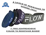 Flow Accessories™ - Resistance Bands (Premium Quality Exercise Bands for Gym, Muscle Building, Strength, Speed, Pull ups and Travel)