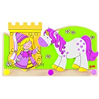 Princess and Unicorn Coat Rack