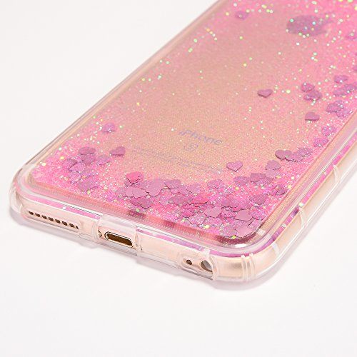 iPhone 6 Plus/6S Plus Coque, Voguecase TPU avec Sables Mouvants Interne, Etui Silicone Souple Transparent, Légère / Ajustement Parfait Coque Shell Housse Cover pour Apple iPhone 6 Plus/6S Plus 5.5 (Am Amour/Rose