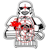 Star Wars Scary Stormtrooper Target adhesivo Skateboards snowboards Scooter Teléfono