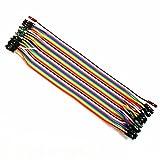 Gazechimp 40 Stück Dupont Draht Farbe Jumper Kabel 2,54mm 1P-1P Stecker Auf Weiblich 20cm
