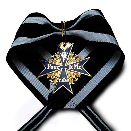Pour le Merite Medaille Militär Blue Max 24k vergoldete Höchste Ehre WW1 Deutsch Repro (Medaillen Krieg)