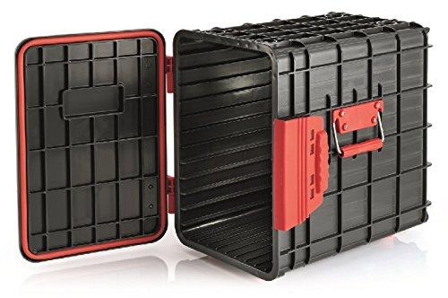 Réservoirs de transport en plastique ABS - Convient pour GN 1/1, Porte avant amovible, 12 Baies, couvercle avec joint/59 x 41 x 59 cm