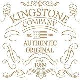 Stencil Vintage Composición 164 Kingstone Company. Medidas aproximadas:Tamaño del stencil 25 x 25(cm) Tamaño de la figura 18.7x 18.7 (cm)