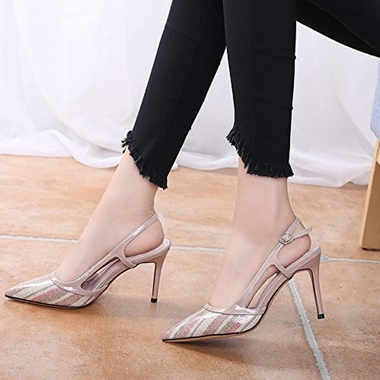 MOM Mezza sandali a punta femminile femminile femminile estate sexy air multa con fibbia a punta unica con scarpe col tacco alto e... | Special Compro  | Uomini/Donna Scarpa  372443