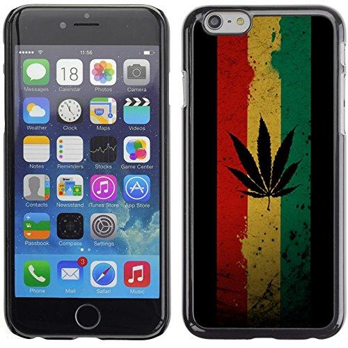 Graphic4You Marihuana Cannabis Hanf Blatt Raucher Design Harte Hülle Case Tasche Schutzhülle für Apple iPhone 6 Plus / 6S Plus Design #6