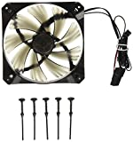 Antec TrueQuiet Red LED 120mm Dual Speed Case Fan with Toolless Mounting 8.9dBA