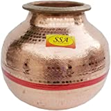 SHIV SHAKTI ARTS Pure Copper Matka Water Pot/Tank Container   Water Storage Home Hotel Restaurant   Good Health Benefit Yoga Ayurveda Healing (15 Litre)