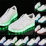 CIVIMA LED Schuhe Leuchtschuhe Blinkschuhe Farbwechsel Leuchtende Sohle Sneakers Shoes (38, Weiß)