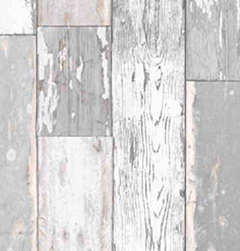 Klebefolie Holzdekor- Möbelfolie Holz Scrapwood grau hell - 45 cm x 200 cm Selbstklebefolie