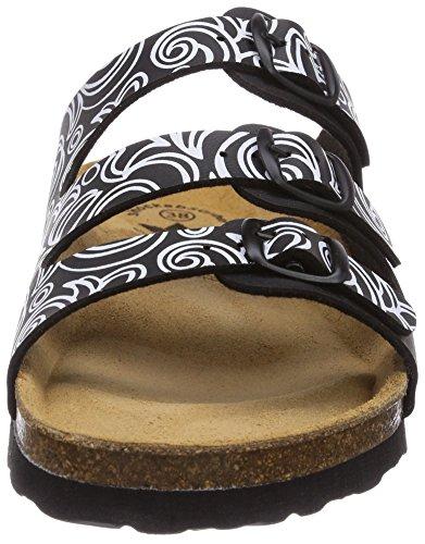 Lico Bioline Lady Soft, Chaussures de Claquettes Femme Noir - Schwarz (schwarz/weiss)