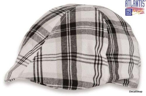 mirage-bianco-nero-tg-unique-57-60-cm-coppola-100-lin-trand-gatsby-chapeau-mixte-bonnet-cap