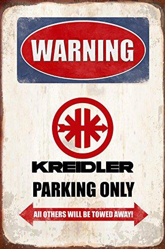Schatzmix Warning Kreidler Parking only blechschild