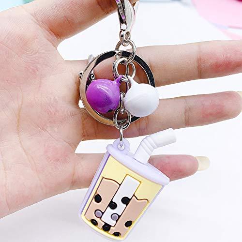 YCEOT Art und Weise Keychain gesetzte Kaffeetasse-Legierungs-hängende Keychain für bestes Freund-Geschenk