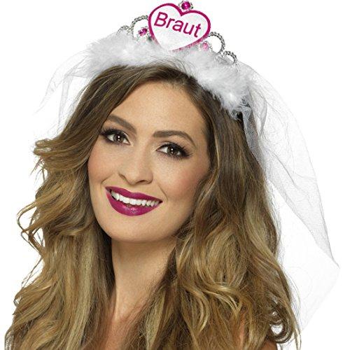 em mit Schleier weiß-pink Bride To Be Tiara Brautschleier (Tiara, Schleier)