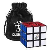 Cubikon Original Rubik's Cube - 3x3 Zauberwürfel (verbesserte Version) inkl. Standfuß Tasche