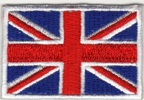Aufnäher Aufbügler Iron on Patches Applikation England Flagge UK United Kingdom Großbritanien