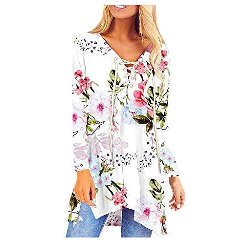 TWIFER Chemise Femme Frenulum Chemise Élégant Femme Chemise Chic Femme Chemise avec Cravate Chemise Collier de Baisse Femme T-Shirt Tops Chic Femme Blouse Pull Sweatshirt Automne Hiver