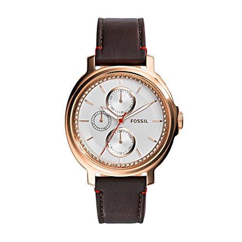 Fossil Chelsey ES3594 - Reloj para mujeres, correa de cuero color marrón