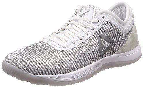 Reebok Damen R Crossfit Nano 8.0 Fitnessschuhe Weiß White/Skull Grey/Pure Silver, 38.5 EU