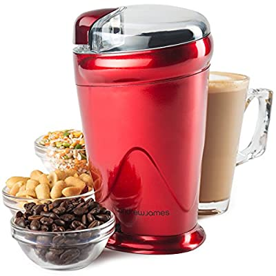 Andrew James Coffee Grinder Electric - Powerful 150 Watt Motor - Coffee Beans Seeds Nut and Spice Grinder with Stainless Steel Blades - 70G Capacity by Andrew James