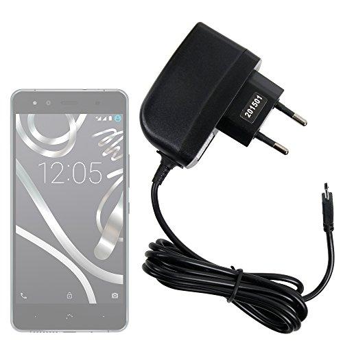 DURAGADGET Cargador (2 Amperios) para Smartphone BQ Aquaris X5 Plus / E4 / E4.5 / E5s / E5 FHD - Certificado por La CE - con Conexión Micro USB Y Enchufe Europeo De Pared