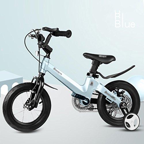 Preisvergleich Produktbild Magnesiumlegierung Rahmen 2-4-6-7-8-9-10 Jahre alt Baby Fahrrad junge Mädchen Fahrrad 12/14/16 Zoll Fahrrad ( Color : Blue , Size : 12 inches )