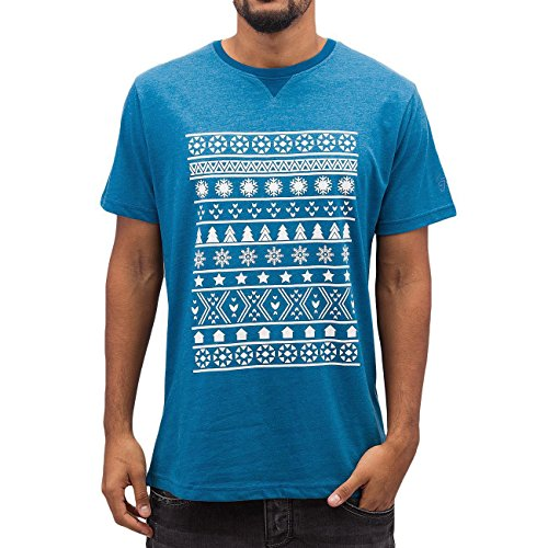Just Rhyse Uomo Maglieria/T-Shirt Snow Blu