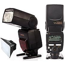 Yongnuo YN685 i-TTL HSS 1 / 8000s GN60 2.4G Wireless Speedlight Blitz Speedlite Blitzgeräte Blitzlampe Blitzleuchte für Nikon DSLR-Kameras Kompatibel mit YONGNUO 622N / RF 603 Funksystem+ TARION® Diffusor