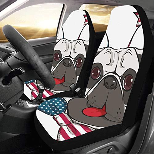 Nette Happy Dog Wear Krawatte Benutzerdefinierte Neue Universal Fit Auto Drive Autositzbezüge Schutz Für Frauen Automobil Jeep Lkw Suv Fahrzeug Full Set Zubehör Für Erwachsene Baby (set Von 2 Vorne)