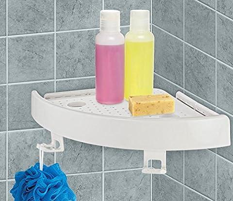 LCLrute 1 x Quick Badezimmer Ecke Regal Fix Corner Easy Shelf Grip Bis zu 4kg Easy Wand Badezimmer (Weiß)