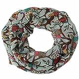 Yogogo Damen Eulen Muster Druck Schal warmer Verpackungs Schal (Grün)