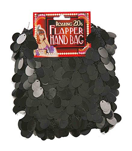 Handtaschen Kostüm Fancy Dress - Bristol Novelty Sequin Flapper Bag Black for Fancy Dress Accessory