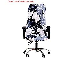 Hete-supply - Funda para silla de oficina de ordenador extraíble y elástica, estilo Simplism para ordenador, silla de oficina, fundas protectoras y elásticas universales para silla giratoria, A, Large