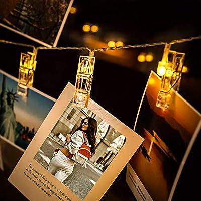 LED Fotoclips Lichterkette für Zimmer deko - wellead Clip Bilder Lichterketten Bilderrahmen Dekoration für Wohnzimmer innen Haus Hochzeit Schlafzimmer von wellead