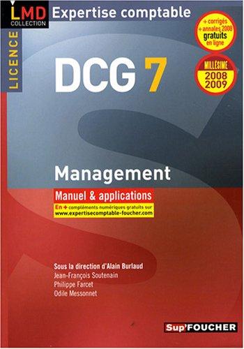 Management DCG7 : Manuel et applications (Ancienne Edition)