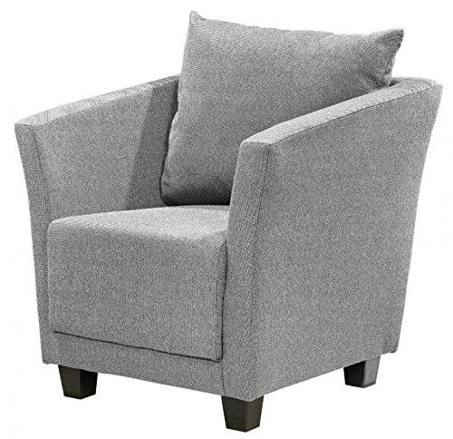 MIRO Sessel Einzelsessel Wohnsessel Polstersessel Polsterstuhl Grau