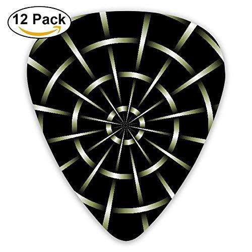 3D Mesh Black Metal Spider Web Guitar Pick 12pack