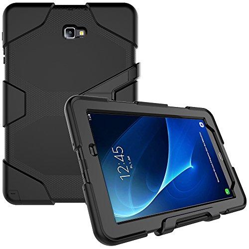 Samsung Galaxy Tab A 10.1mit S Pen (P585/P580) Case, beimu 3in1Ständer Funktion Heavy Duty stoßfest Impact Resistant Rugged Armor Defender Schutz Hülle mit Displayschutzfolie, Schwarz (Samsung Galaxy S 3 Otterbox)