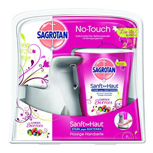 sagrotan-no-touch-automatischer-seifenspender-silber-inkl-nachfuller-garden-berries