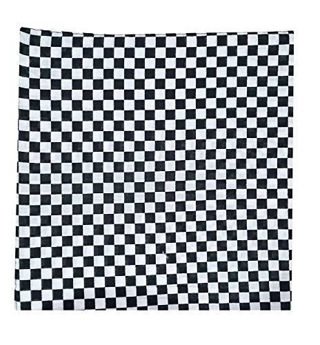 Beautifeye Neu 2015 Designs Gemusterte Bandanas Kopf Hals Schals - Schwarz Weiß Kariert, Schwarz Weiß Kariert, 52x52cm