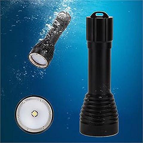 LED Taschenlampe Licht, ulanda-eu Frontleuchten XM-L2Tauchen Fotografie Underwater Video LED Taschenlampe Zoomable Taschenlampe, für Radfahren Wandern Camping Notfall Reisen Rucksackreisen schwarz