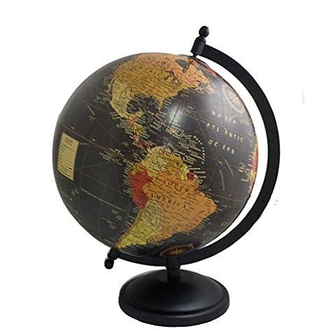 Handmade Decorative Iron Stand Globe Antique Plastic Globe Home Decor 11.5