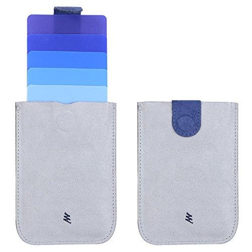 Design colorato estraibile Fourheart Slim portafoglio di carta di carta