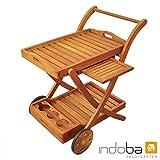 """Indoba Servierwagen, """"Sun Flair"""" - Serie, braun, 80 x 62.5 x 86 cm, IND-70004-SW"""