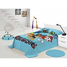 Manta Patrulla Canina 500gr 160x230 (cama de 90) (Azul, 160x230 (cama