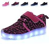 nishiguang LED Leuchten Schuhe Kinder Mädchen Jungen Breathable blinkende...