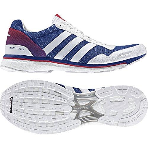adidas Unisex-Erwachsene Adizero Adios Aktiv Turnschuhe, Blau Mehrfarbig (Reauni / Ftwbla / Escarl)