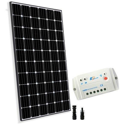 Solar Kit Base 300W 24V Photovoltaik Panel Laderegler 20A PWM Haus Hütte (Leinen Hütte)