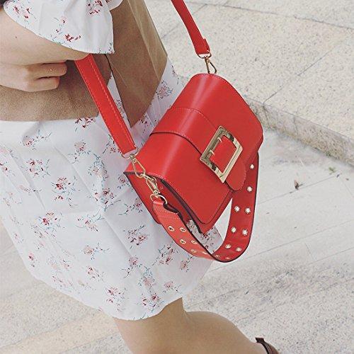 Helle Seite Des Kleinen Quadratischen Paket Mode Schulter Messenger Bag Paket Rot